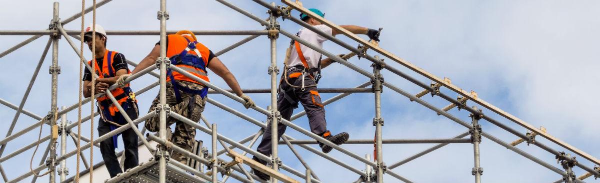 Polske håndværkere arbejder i Danmark